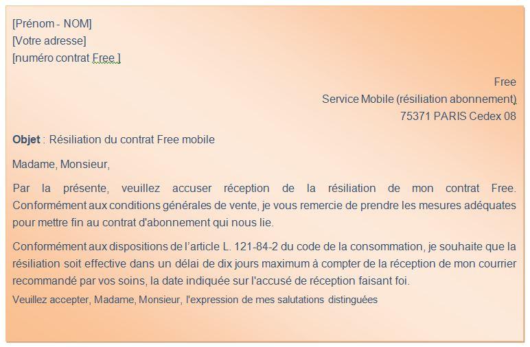 lettre-type-Résiliation-Free