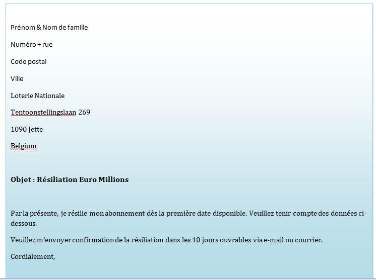 lettre-résiliation-Euro Millions