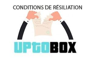 Conditions de résiliation Uptobox