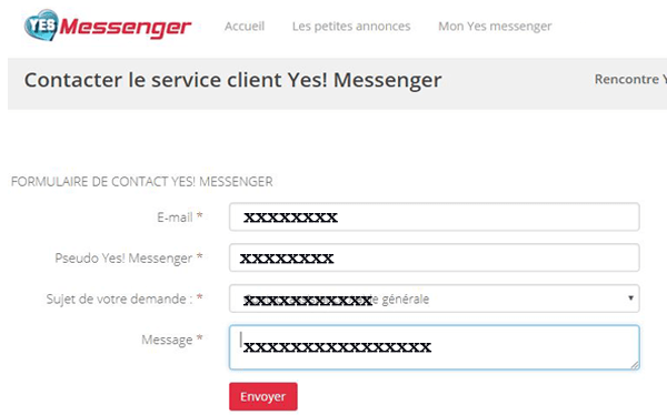 Support client Yes Messenger