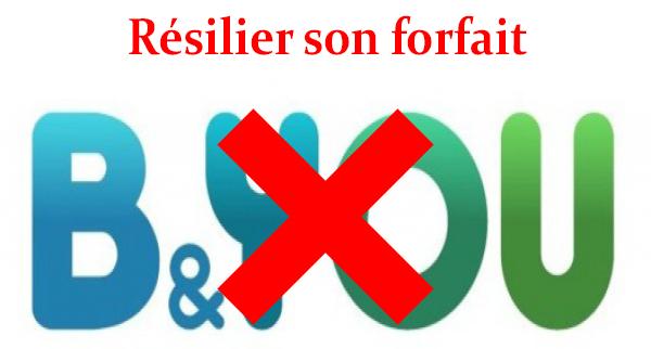Résilier un forfait B and You