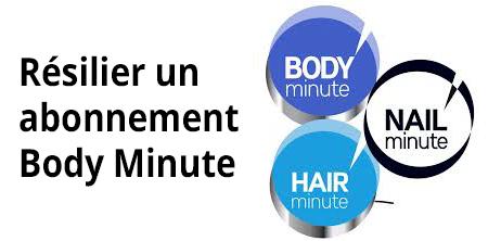 Résiliation carte et abonnement body minute