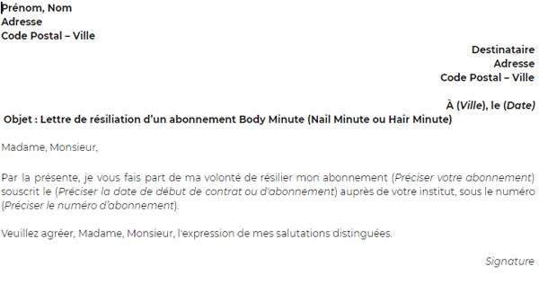 Comment Résilier Un Abonnement Body Minute Facilement