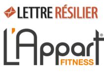 Résiliation abonnement l'appart fitness