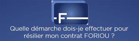 Comment résilier un contrat Foriou?