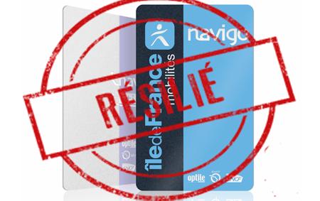 Pass Navigo résiliation
