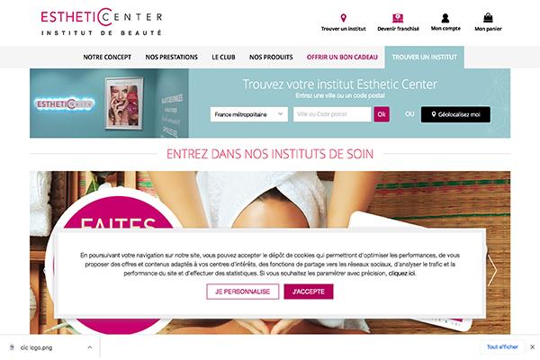Site offciel Esthetic Center